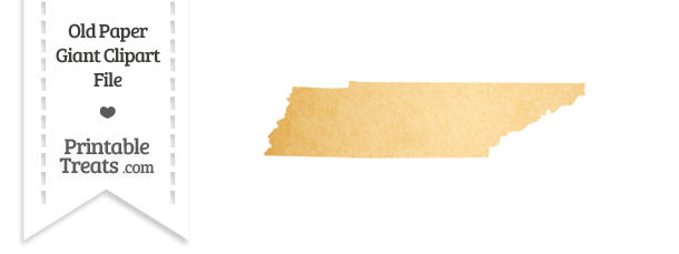 Old Paper Giant Tennessee State Clipart