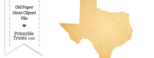 Old Paper Giant Texas State Clipart