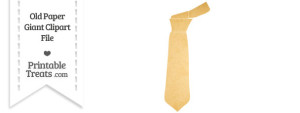 Old Paper Giant Tie Clipart