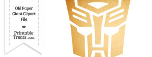 Old Paper Giant Transformers Symbol Clipart