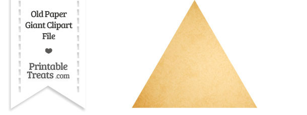 Old Paper Giant Triangle Clipart