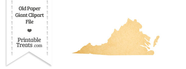 Old Paper Giant Virginia State Clipart