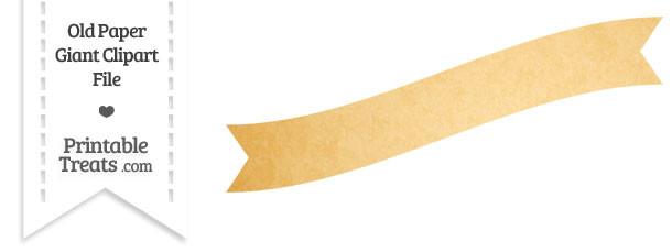Old Paper Giant Wavy Banner Clipart