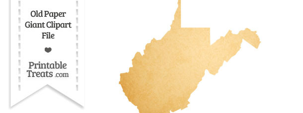 Old Paper Giant West Virginia State Clipart