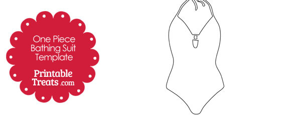 One Piece Bathing Suit Template