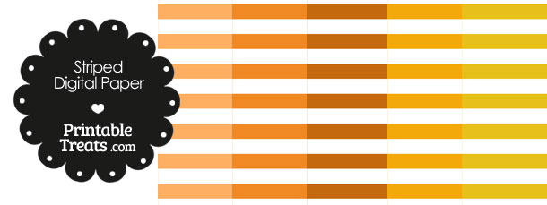 Orange and White Horizontal Striped Digital Scrapbook Paper