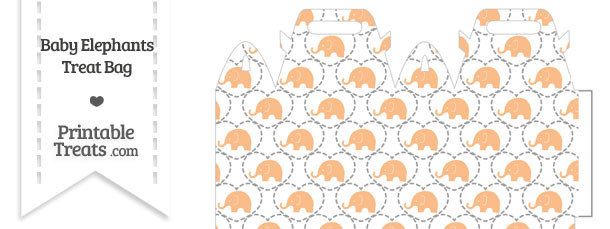 Orange Baby Elephants Treat Bag