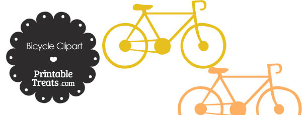 Orange Bicycle Clipart
