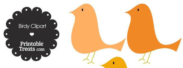 Orange Birdy Clipart