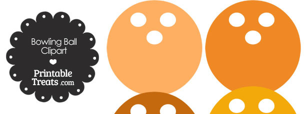 Orange Bowling Ball Clipart