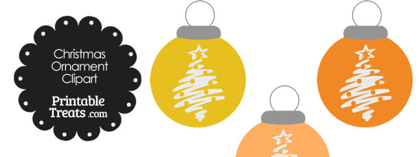 Orange Christmas Tree Christmas Ornament Clipart