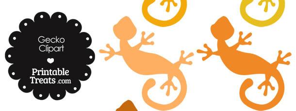 Orange Gecko Clipart