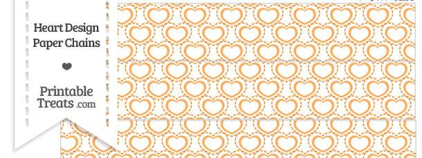 Orange Heart Design Paper Chains