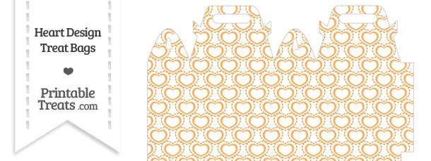 Orange Heart Design Treat Bag