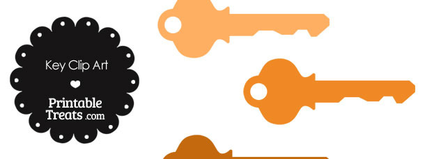 Orange Key Clipart