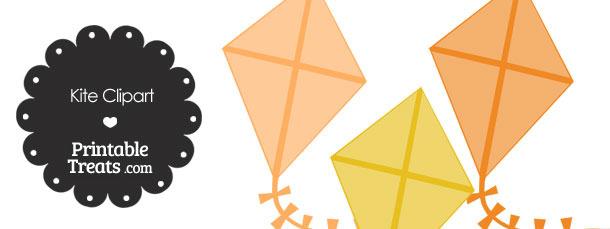 Orange Kite Clipart