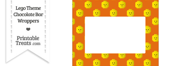 Orange Lego Theme Chocolate Bar Wrappers