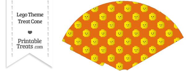 Orange Lego Theme Treat Cone