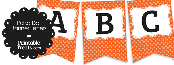 free-orange-polka-dot-banner-letters