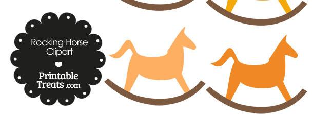 Orange Rocking Horse Clipart