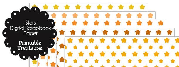 Orange Star Digital Scrapbook Paper