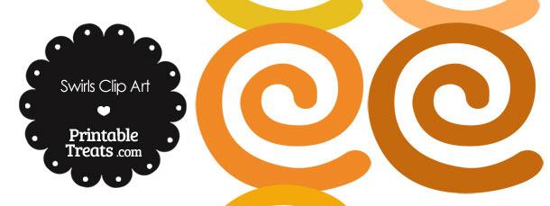 Orange Swirls Clipart