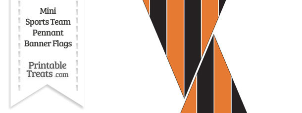 Orioles Colors Mini Pennant Banner Flags