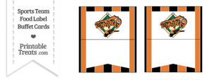 Orioles Food Label Buffet Cards