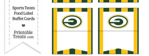 Packers Food Label Buffet Cards