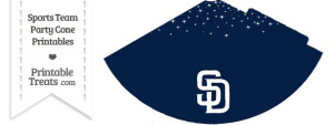 Padres Party Cone Printable