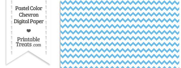 Pastel Blue Chevron Digital Scrapbook Paper