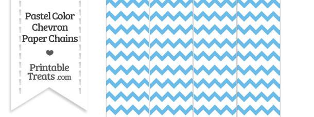 Pastel Blue Chevron Paper Chains