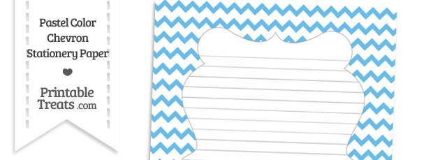 Pastel Blue Chevron Stationery Paper