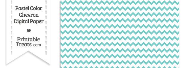 Pastel Blue Green Chevron Digital Scrapbook Paper