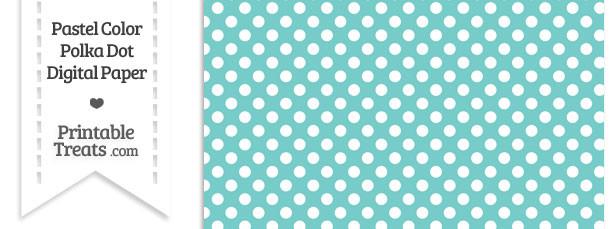 Pastel Blue Green Polka Dot Digital Scrapbook Paper