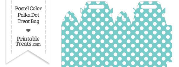 Pastel Blue Green Polka Dot Treat Bag
