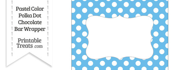 Pastel Blue Polka Dot Chocolate Bar Wrappers