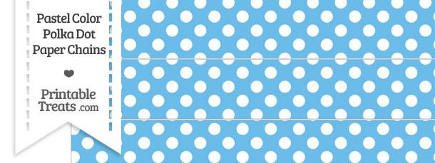 Pastel Blue Polka Dot Paper Chains