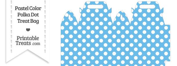 Pastel Blue Polka Dot Treat Bag