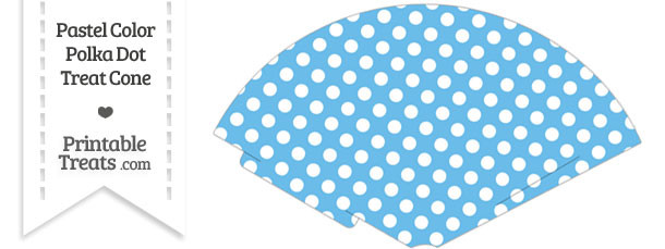 Pastel Blue Polka Dot Treat Cone