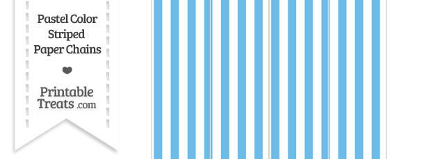 Pastel Blue Striped Paper Chains