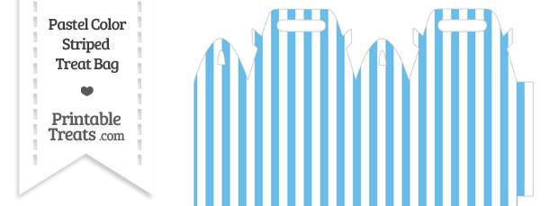 Pastel Blue Striped Treat Bag