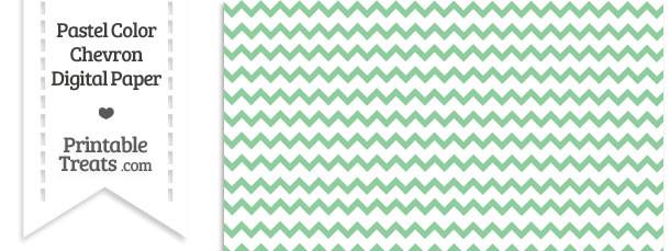 Pastel Green Chevron Digital Scrapbook Paper