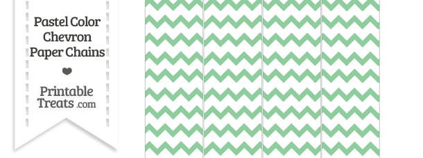 Pastel Green Chevron Paper Chains