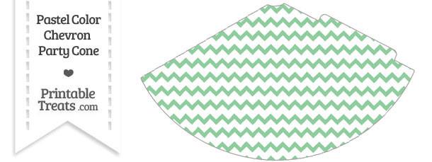 Pastel Green Chevron Party Cone