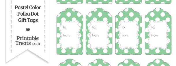 Pastel Green Polka Dot Gift Tags
