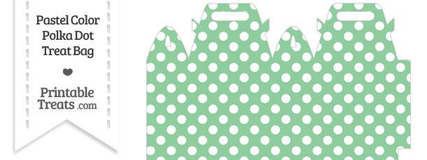 Pastel Green Polka Dot Treat Bag