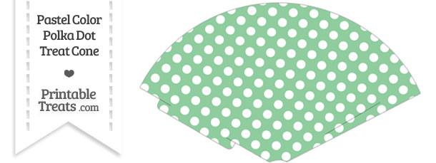Pastel Green Polka Dot Treat Cone