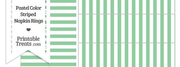 Pastel Green Striped Napkin Rings