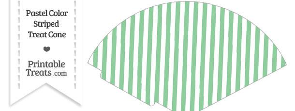 Pastel Green Striped Treat Cone